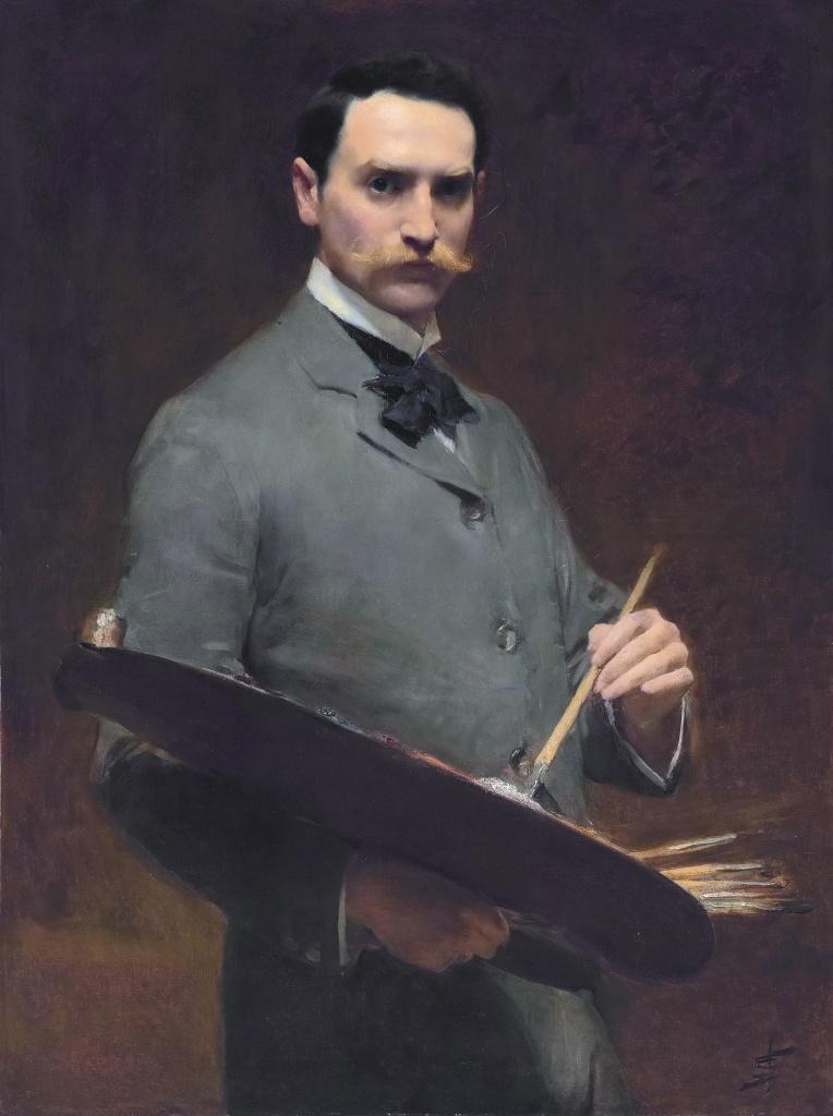 Автопортрет холст, масло 101,6 х 76,2 см, подписано около 1896 г..jpg