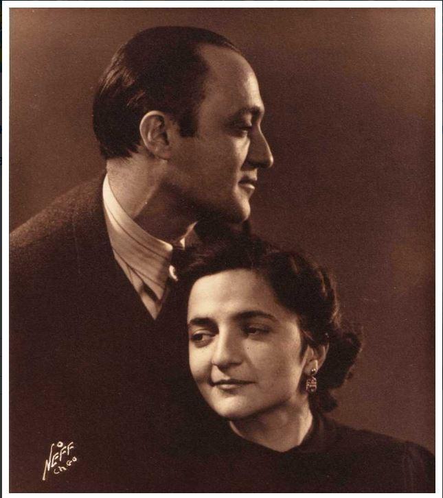 Бецалель Шац с женой.JPG