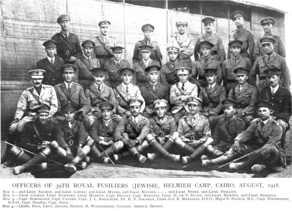 Officers_of_39th_Royal_Fusiliers_(Jewish),_Helmieh_Camp,_Cairo,_August_1918.jpg