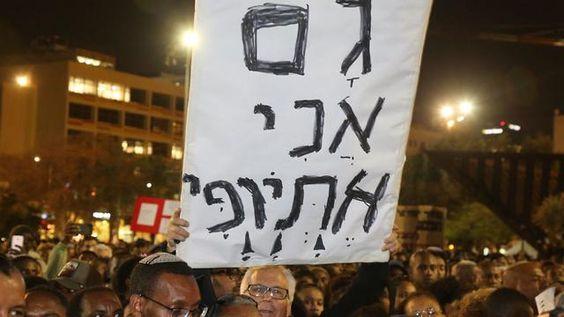 Image result for беспорядки в тель авиве эфиопы