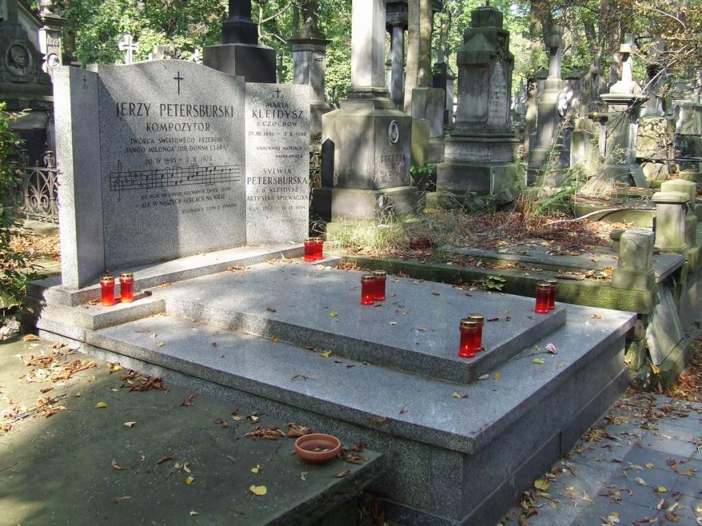 Могила Ежи Петерсбурского на кладбище Повонзки.jpg