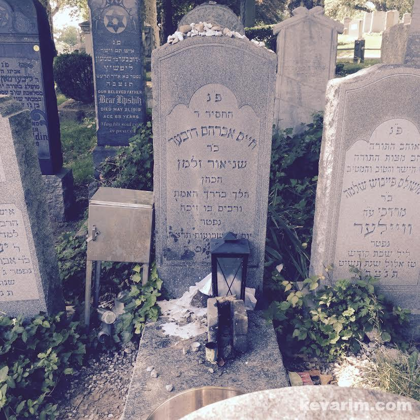 Levine-Chaim-Avroham-Dovber grave.jpg